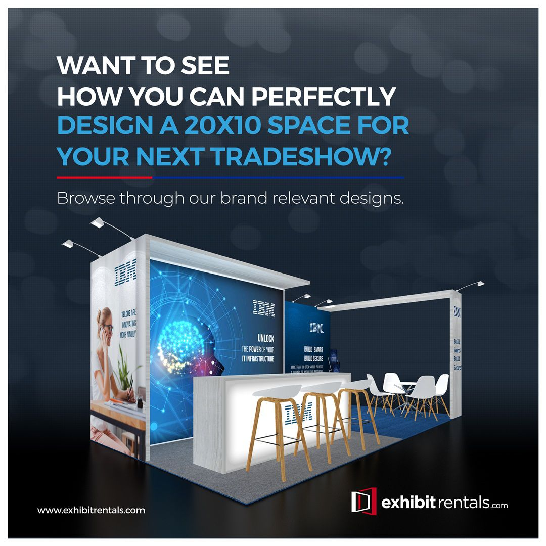exhibit rentals booth 20*10 design