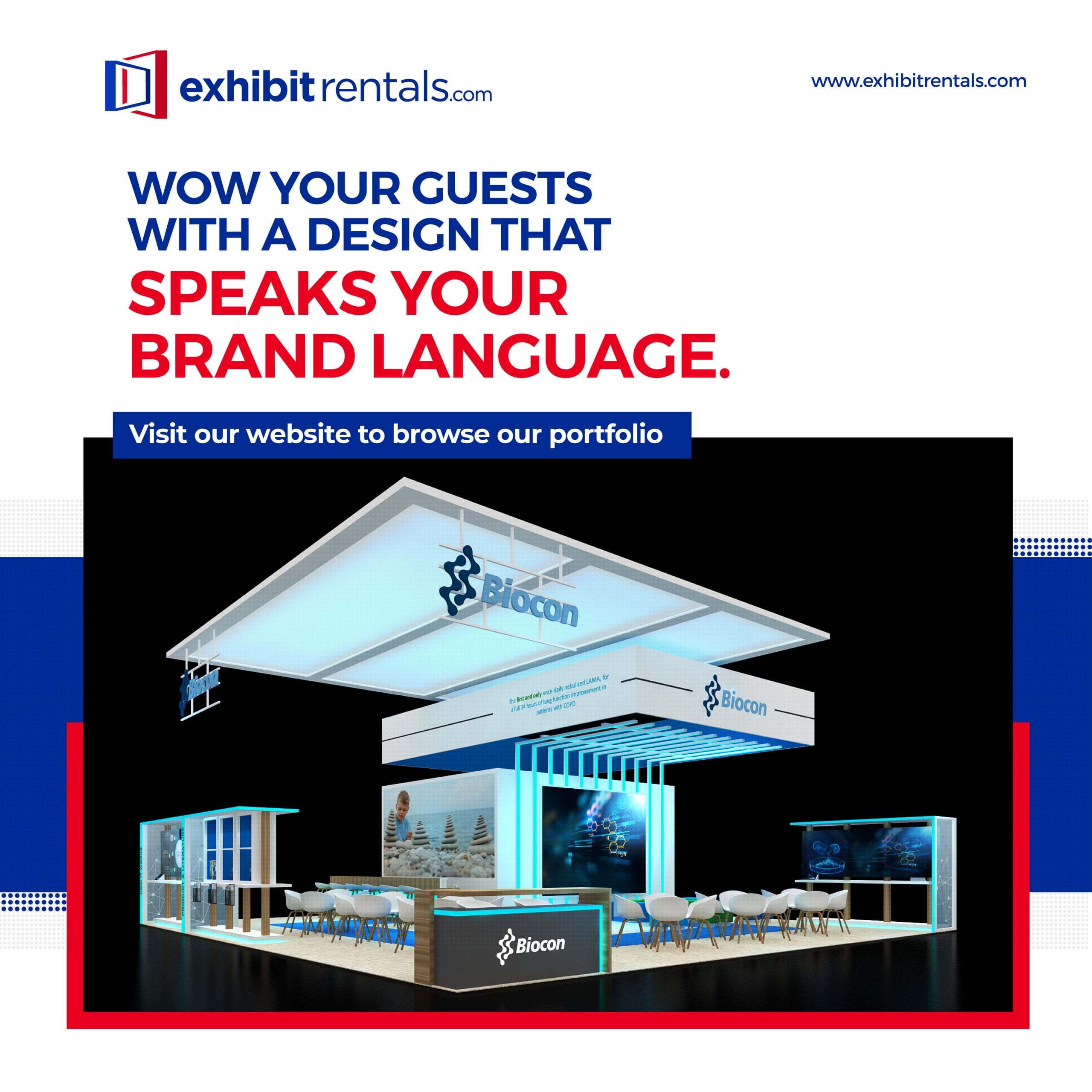 Exhibit rental booth design