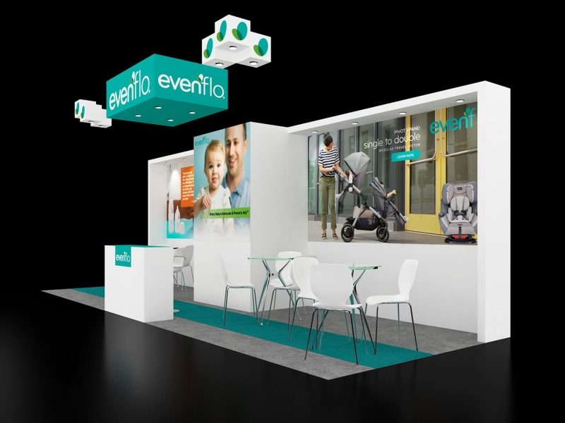 customized booth design made by exhibit rentals